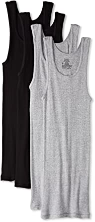 945a9b79906777 Hanes Men s Ultimate Comfortsoft Dyed Tank Undershirt (4-Pack) at ...