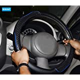 NIKAVI Diamond Steering Wheel Cover for All Cars - 15 inch (Approx) (Blue)