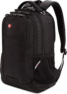 SWISSGEAR 5505 Laptop Backpack for Men and Women, Ideal for Commuting, Work, Travel, College, and School, Fits 15 Inch Laptop Notebook (Black)