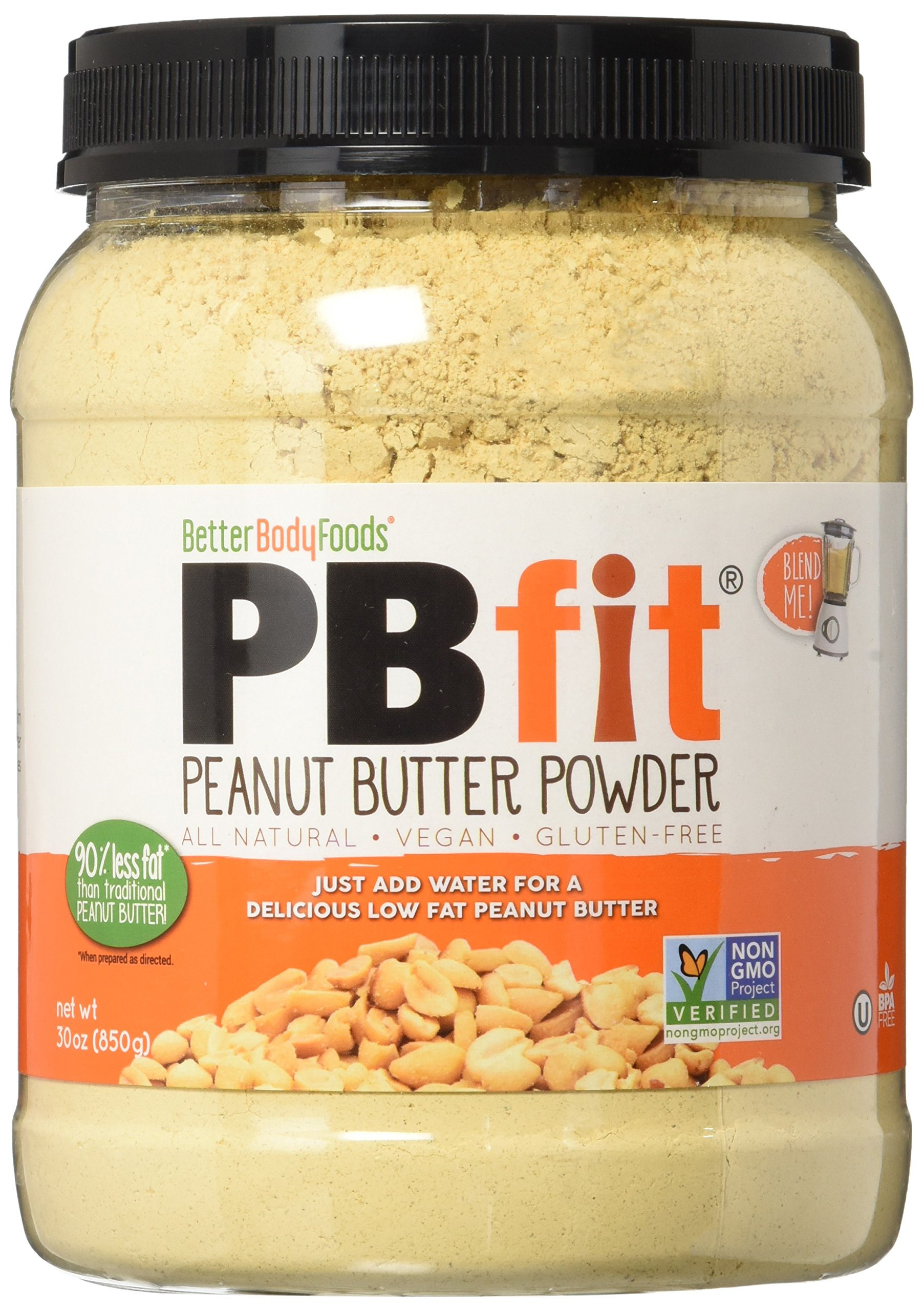 PBfit All-Natural Peanut Butter Powder 30 Ounce, Peanut Butter Powder from Real Roasted Pressed Peanuts, High in Protein, Natural Ingredients