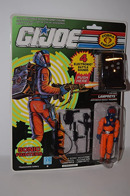 GI Joe Weapon Sonic Fighter LAMPREYS Gun 1990 Original Figure Accessory