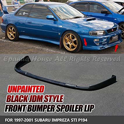 64fd8933240 Image Unavailable. Image not available for. Color  EpandaHouse For 97-01  Impreza WRX STi Paintable Front Bumper Lip Under Spoiler Trim