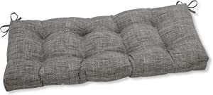 """Pillow Perfect Outdoor/Indoor Remi Patina Tufted Bench/Swing Cushion, 48"""" x 18"""", Gray"""