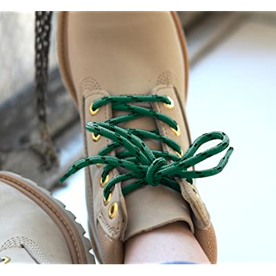 Honey Badger Work Boot Laces Heavy Duty USA Made Round Shoelaces Green Natural