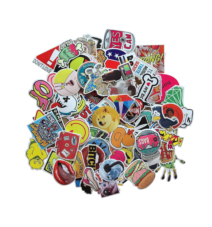 Random Music Film Vinyl Skateboard Guitar Travel Case Sticker Lot Pack Decals (100PCS) TZ