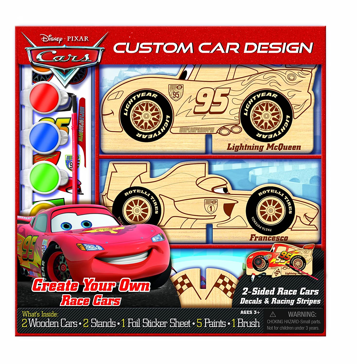 Bendon Disney Pixar Cars Wooden Color and Craft
