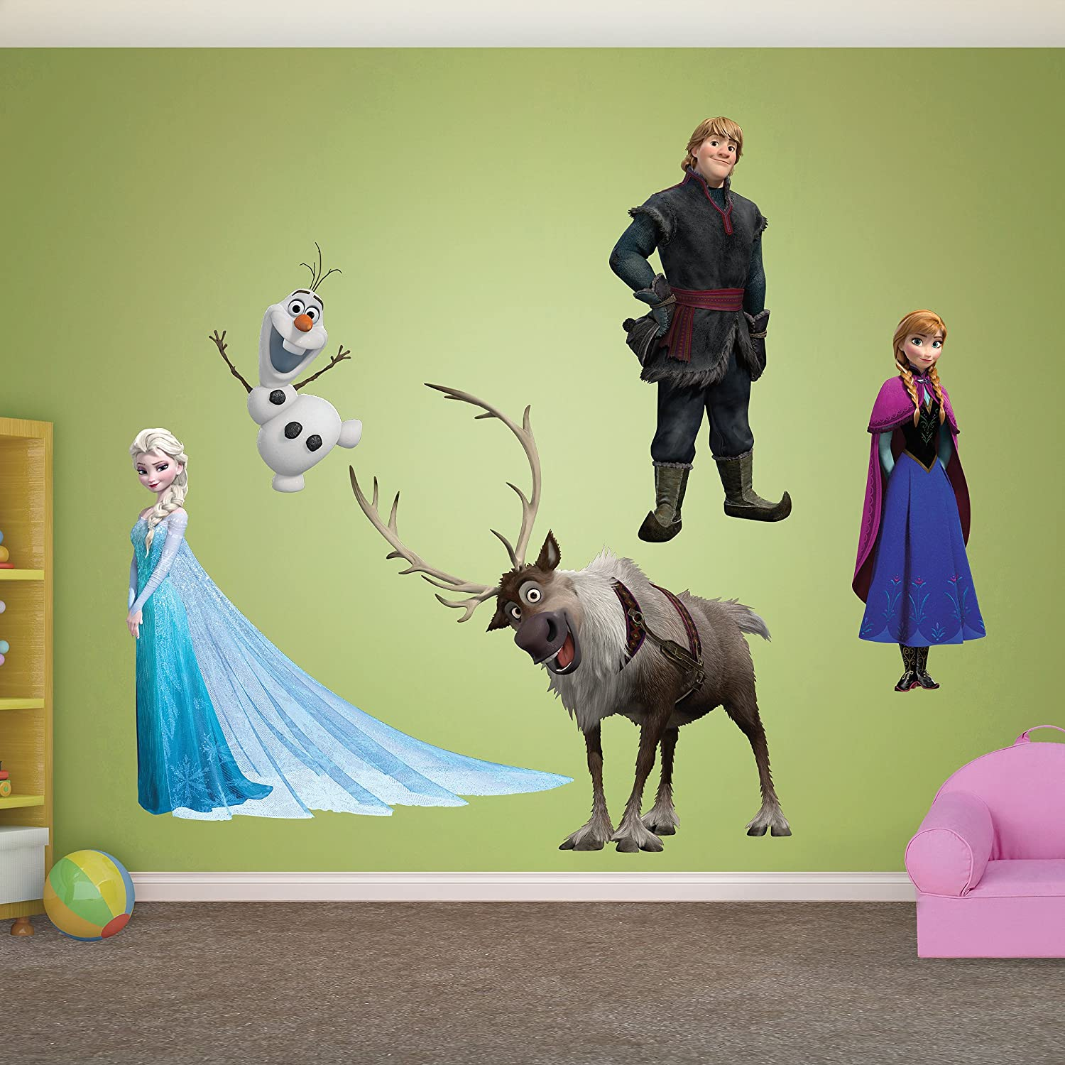 Amazon fathead wall decal real big disney frozen amazon fathead wall decal real big disney frozen collection home kitchen amipublicfo Gallery