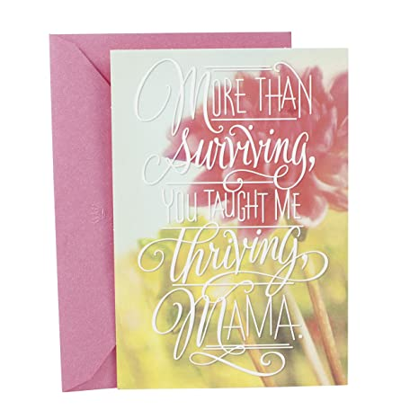 Image Unavailable Hallmark Mahogany Birthday Greeting Card For Mother