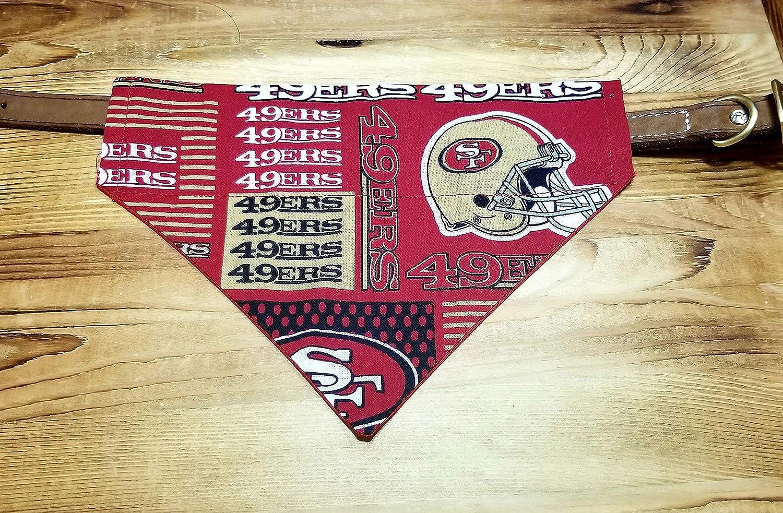 San Francisco 49ers Pet No-Tie Dog Bandana Slip On