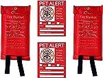 Elite Refuge Pro Emergency Fiberglass Flame Resistant Fire Blanket, 2 Pack