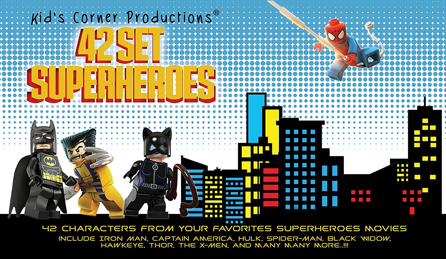 Amazoncom Kids Corner Productions Super Heroes Lego Figures - 18 then and now photos of your favourite on screen superheroes