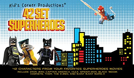 Amazoncom Kids Corner Productions Super Heroes Lego Figures - Superheroes re imagined as if they were sponsored by big brands