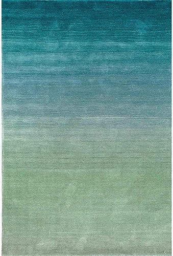 Liora Manne Arca Ombre Aqua Indoor Wool Rug, 7 6 X 9 6 , Blue Navy