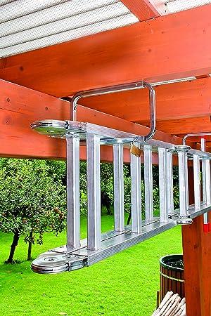 GAH-Alberts 802622 - Ganchos para escalera 216 x 138 mm, 2 unidades, con candado, y superficie galvanizada en azul: Amazon.es: Bricolaje y herramientas