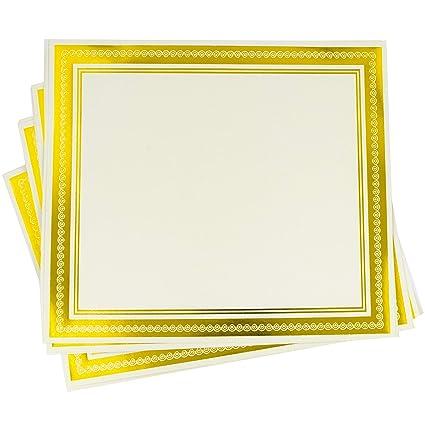 amazon com 50 award certificates gold foil border certificate