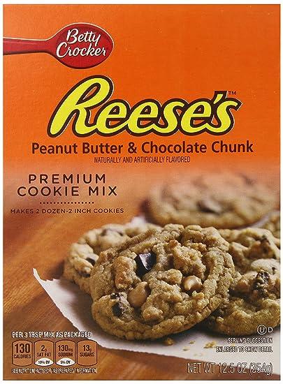 Betty Crocker Reeses Peanut Butter & Chocolate Chunk Premium Cookie Mix ...