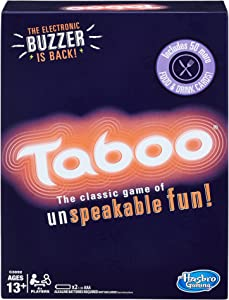 Hasbro Gaming Taboo Party Board Game With Buzzer for Kids Ages 13 and Up (Amazon Exclusive)