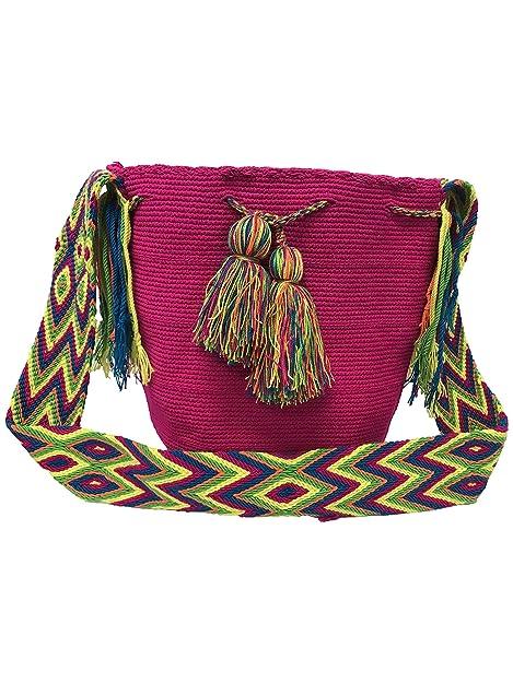 Colombian Wayuu Para mujer mochila hecha a mano Wayuu Colombiano: Amazon.es: Zapatos y complementos