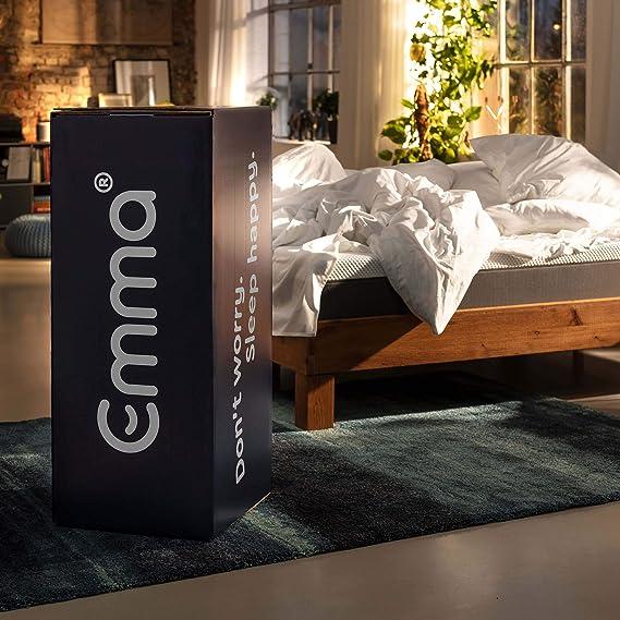 Emma Colchón 90x190 - Colchones visco de Espuma Cama Individual Memory Foam - Transpirable y máximo Confort (Disponible en 19 Medidas): Amazon.es: Hogar