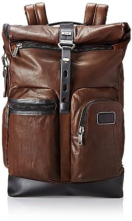 3db4399f2 Tumi Alpha Bravo Luke Roll Top Leather Backpack, Dark brown (Brown) - 092388