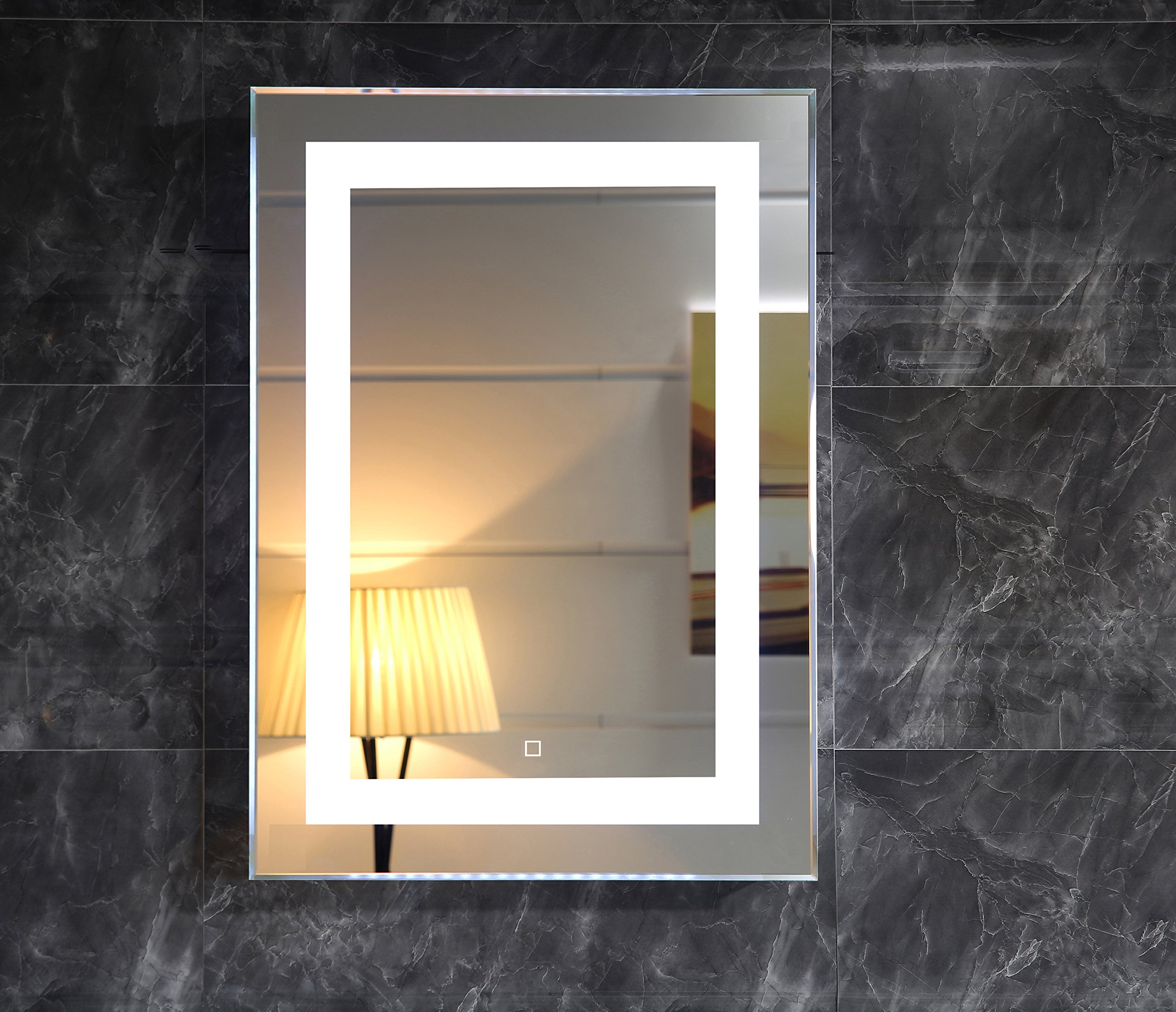 20X28 Inch Wall Mounted Led Lighted Bathroom Mirror With Touch Switch(GS099-2028) (20x28 inch)