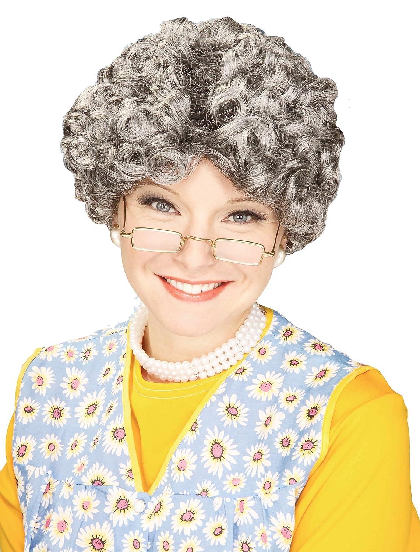 Forum Novelties Women's Yo Momma Curly Costume Wig Gray One Size Forum Novelties Costumes 59981