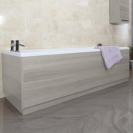 Good Modern Bathroom 1700mm Side Front Bath Panel Grey Ash MDF Adjustable Plinth