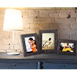 Paper Plane Design Copper Lavaliere Plexiglass Set of 3 Photo Frames. Table Top Picture Frame Size 4X6, 5X7 and 6X8