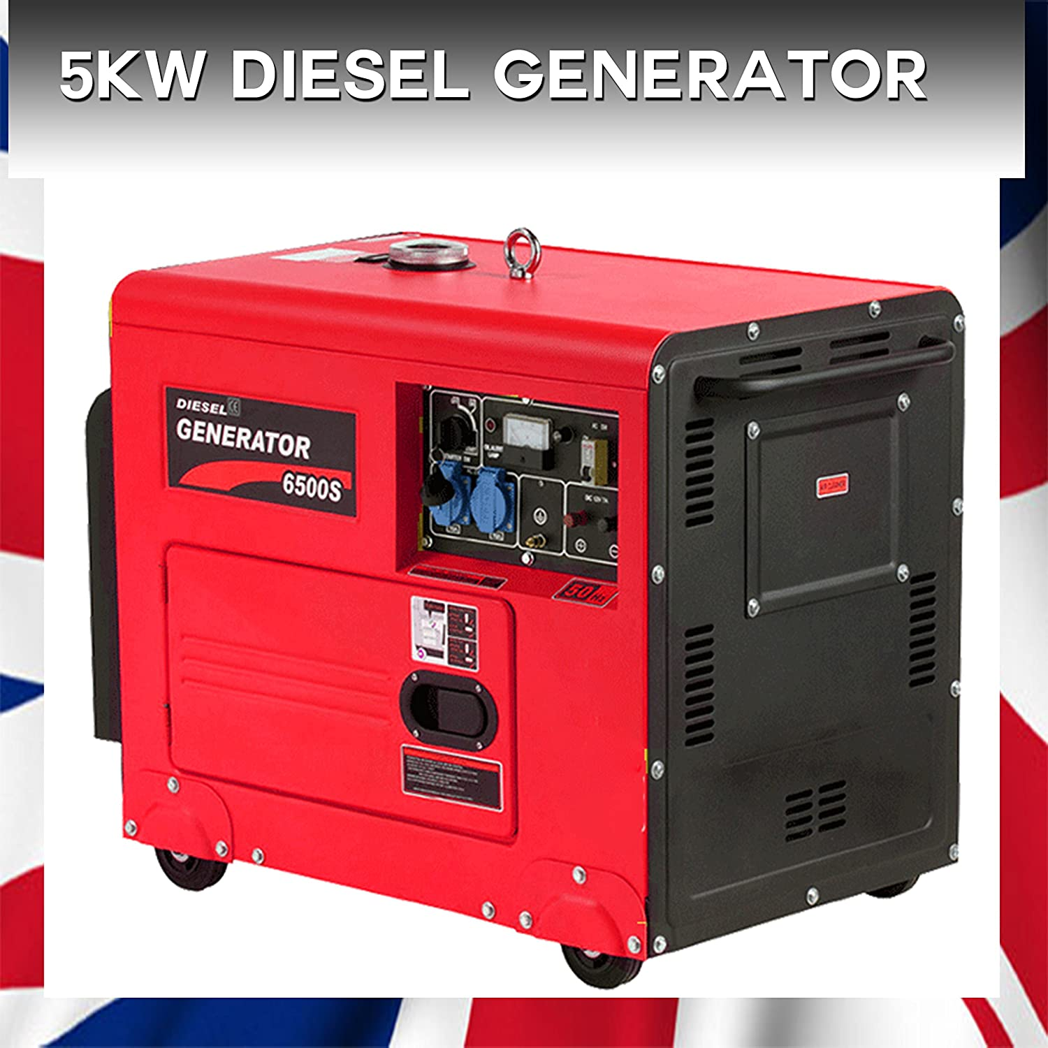 5KW DIESEL GENERATOR SET SOUNDPROOF SINGLE PHASE HIGH QUALITY