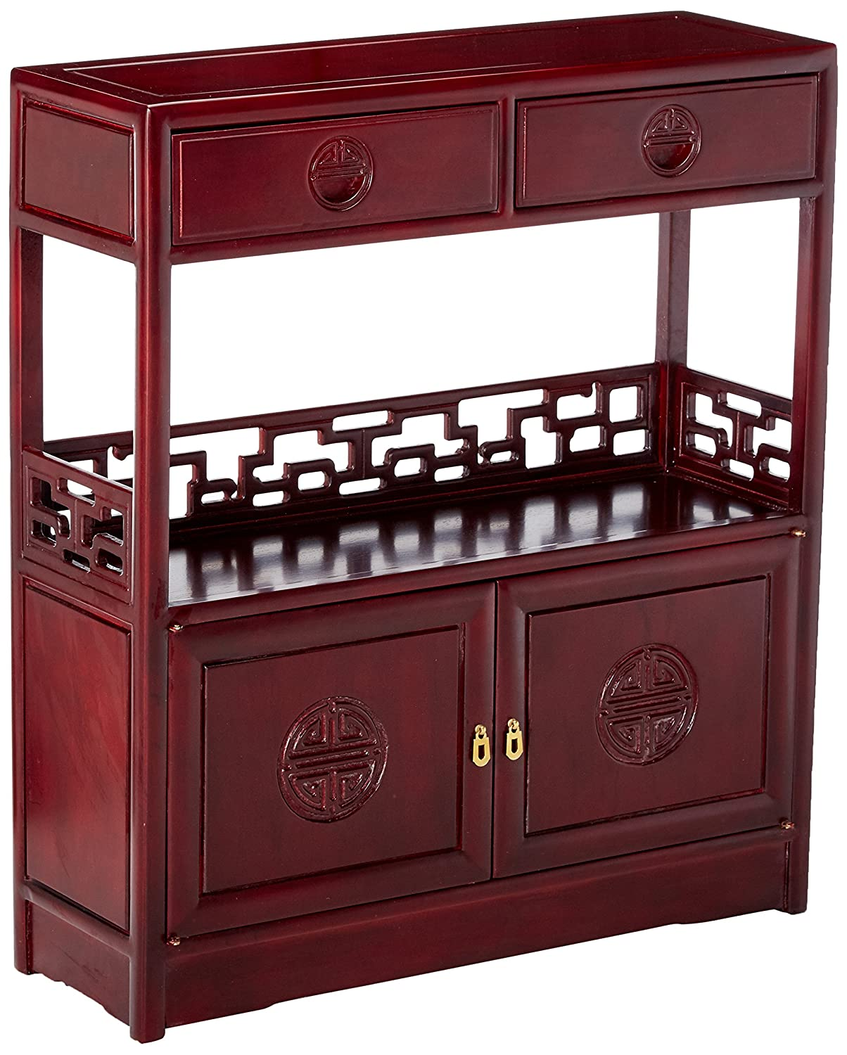 Amazon Com Oriental Furniture Rosewood Long Life Display Cabinet
