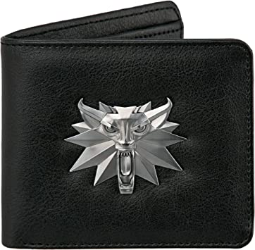 The Witcher 3 Wild Hunt Wolf Medallion Brown Leather Slim Wallet Card Coin Gift