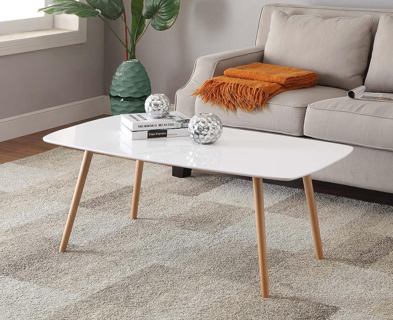 Amazon Com Convenience Concepts Oslo Coffee Table White Kitchen