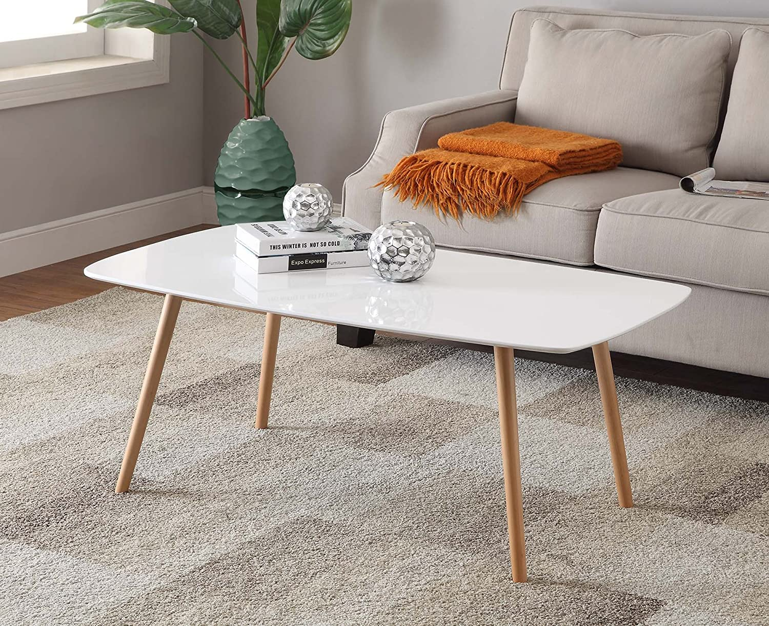 Amazon.com: Convenience Concepts Oslo Coffee Table, White: Kitchen & Dining - Amazon.com: Convenience Concepts Oslo Coffee Table, White: Kitchen