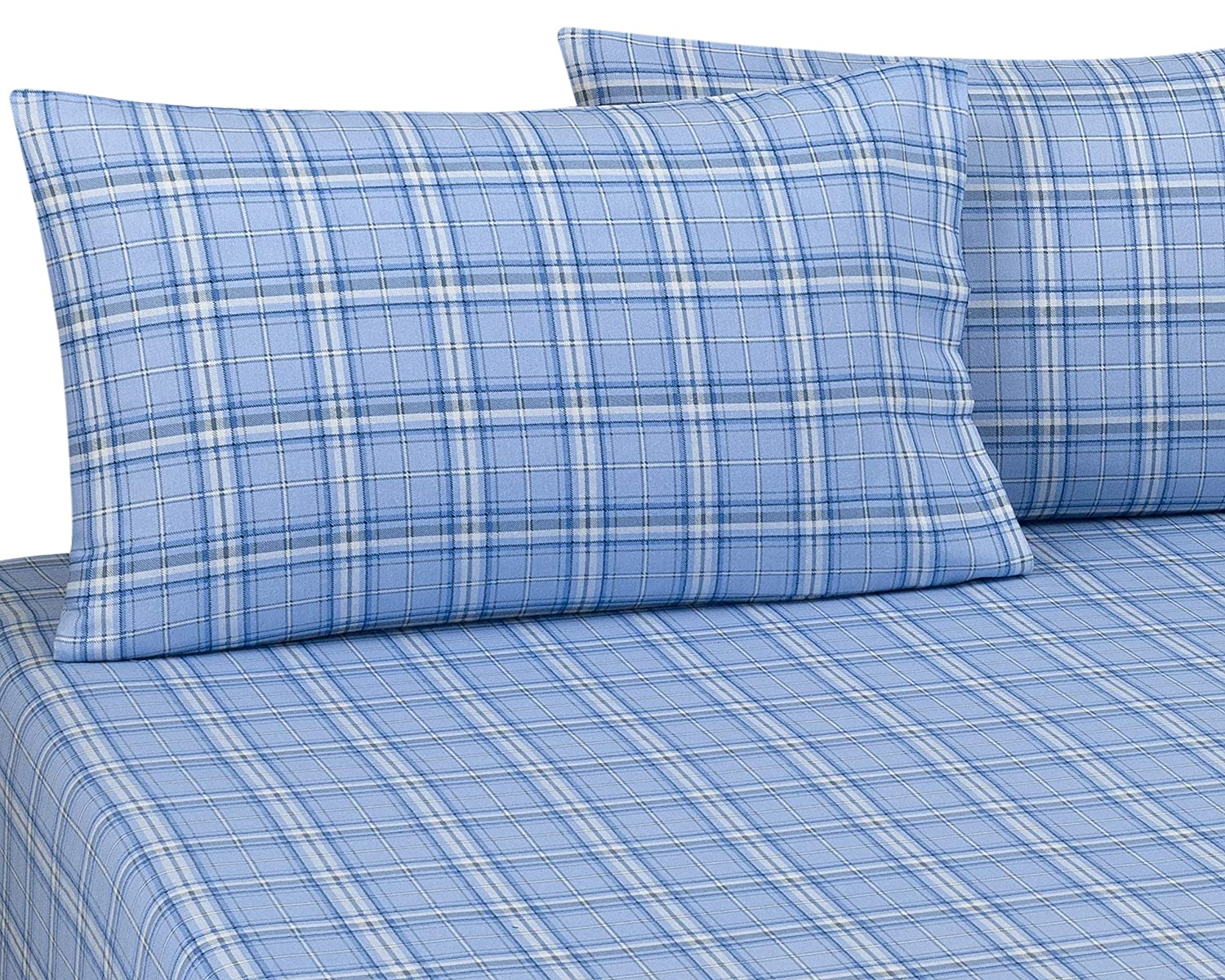 """DELANNA Flannel Pillowcases 100/% Cotton King Size 20/"""" x 40/"""" Includes 2 King,"""