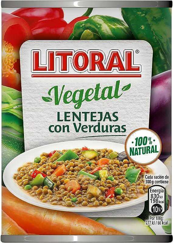 Litoral - Lentejas con Verduras - Pack de 5 x 430 g