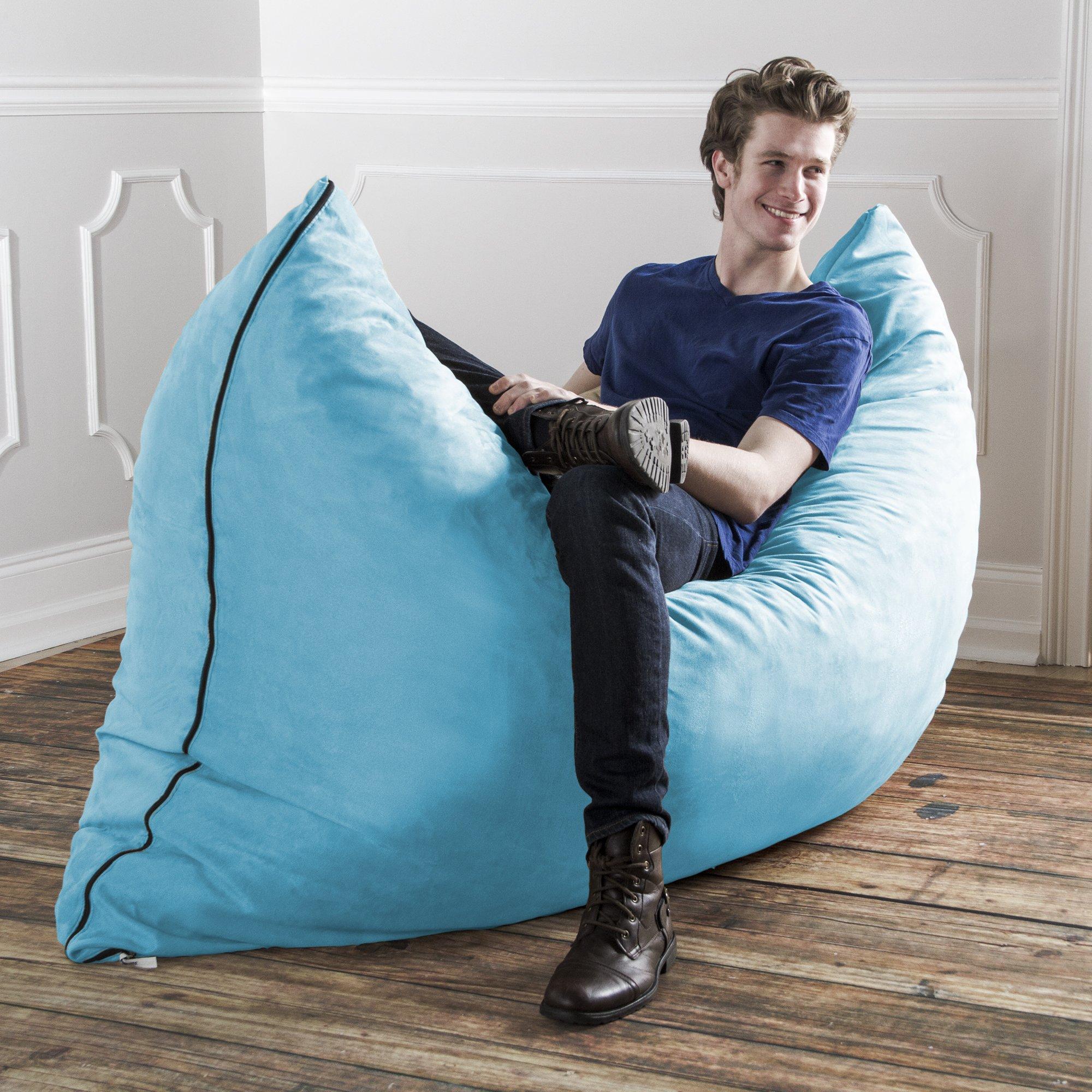 Jaxx Pillow Saxx 5.5-Foot - Huge Bean Bag Floor Pillow and Lounger, Aqua