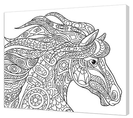 Pintcolor 7162.0 - Lienzo de algodón Estampado para Colorear con Marco de Madera de Abeto,