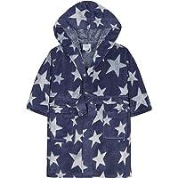 MiniKidz Childrens/Infants Dark Blue Star Print Dressing Gown