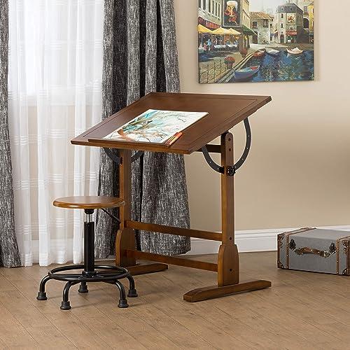 STUDIO DESIGNS 42in Vintage Drafting Table / Rustic Oak 13305 - Antique Drafting Tables: Amazon.com