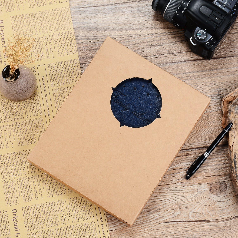 Marrone, S ZEEYUAN Album Fotografico,Famiglia Album Foto Vintage Scrapbook in pelle Fai da te Memorie Album 60 Pagine,Presente per il di Compleanno di Natale Anniversario Compleanno per Donne Bambino