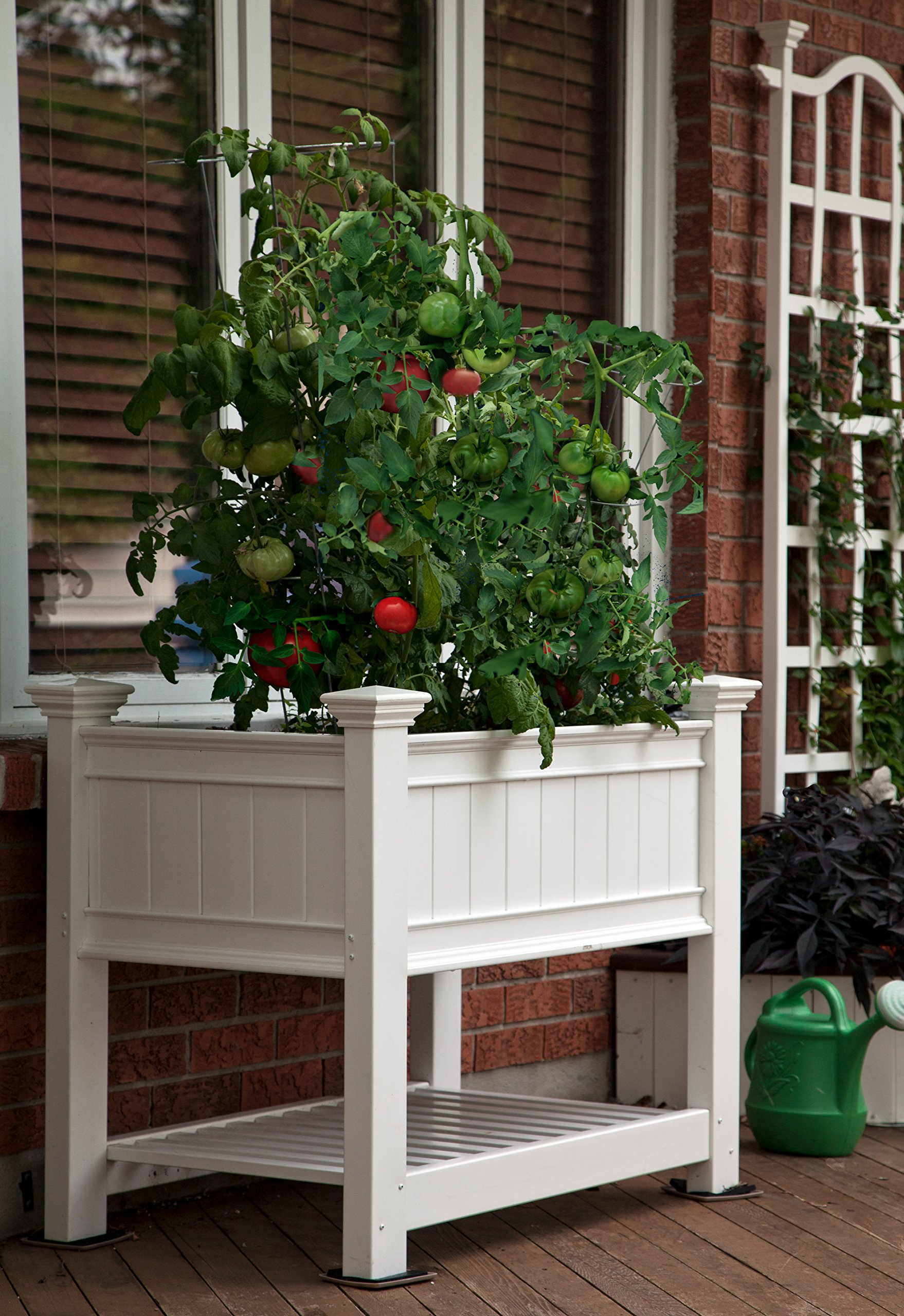 Cambridge 36''W x 24''L Vinyl Raised Planter by New England Arbors