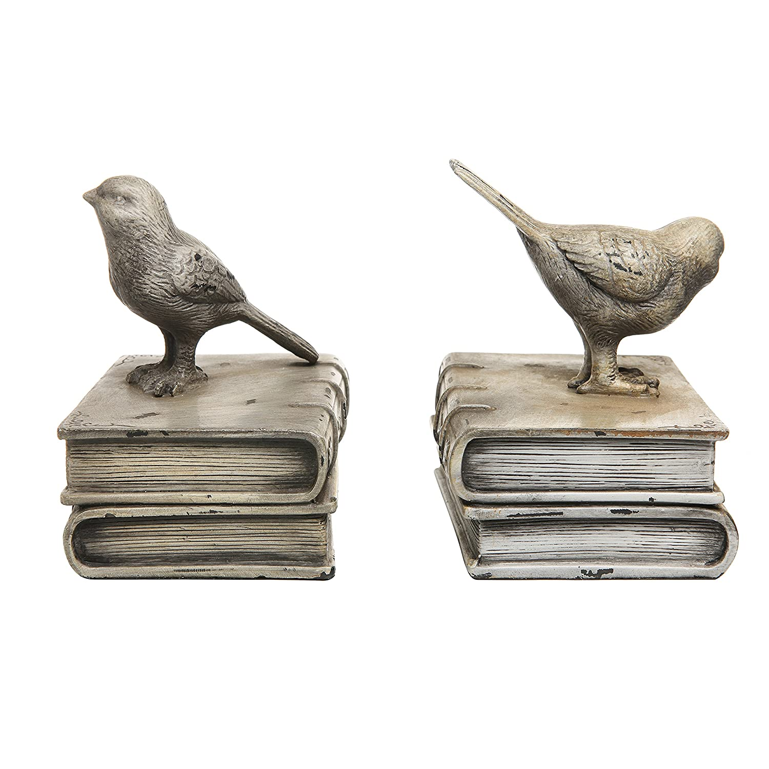 Amazon MyGift Vintage Style Decorative Birds Books Design Ceramic Bookshelf Bookends Paper Weights Home Kitchen