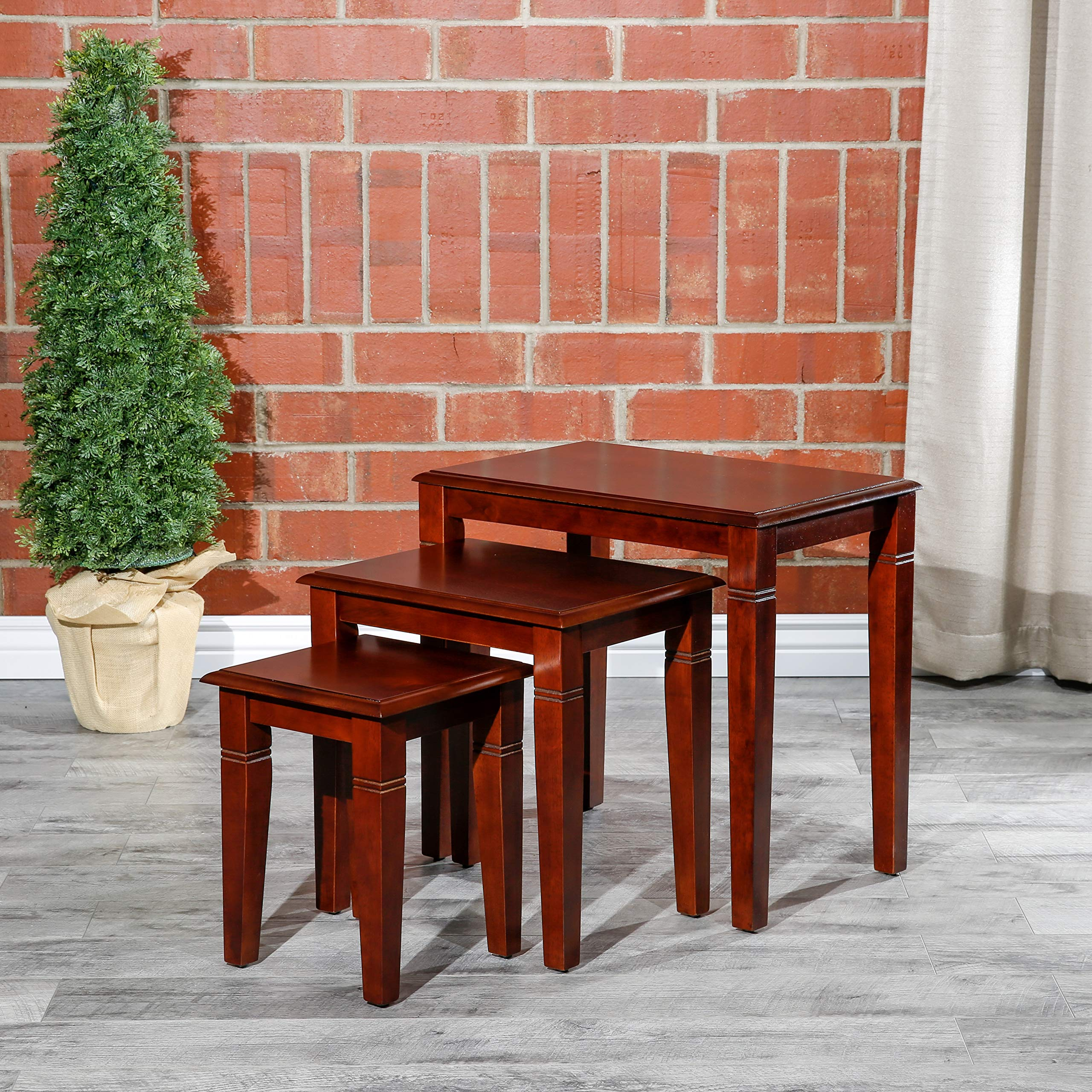 DTY Indoor Living Golden 3-Piece Nesting Table Collection - Cherry by DTY