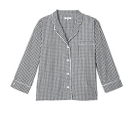 Marigot Maya Check Long Pajama Set - Black (XS) at Amazon Women s ... 35372fb70