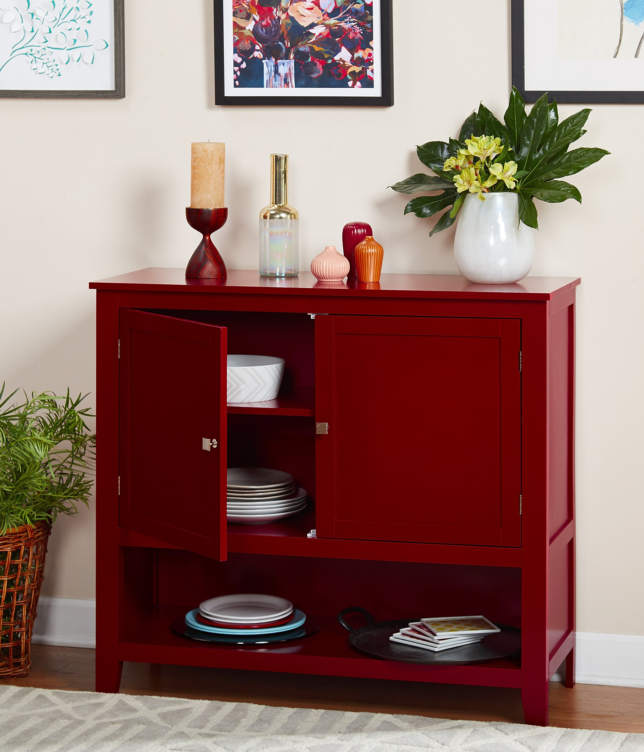 Target Marketing Systems 11001RED Montego Collection Buffet Cabinet, Red by Target Marketing Systems (Image #3)