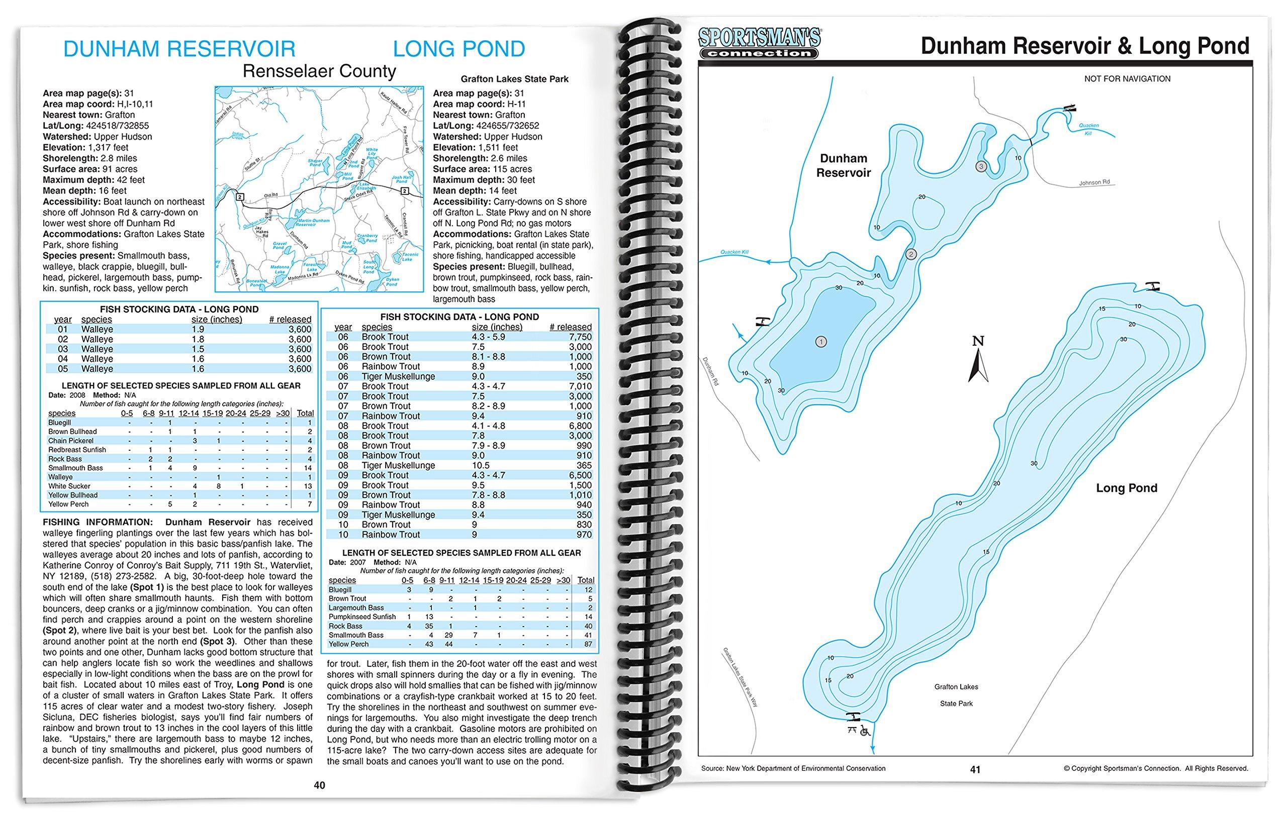 conesus lake fishing map Buy Southeastern New York Fishing Map Guide Fishing Maps Guides conesus lake fishing map
