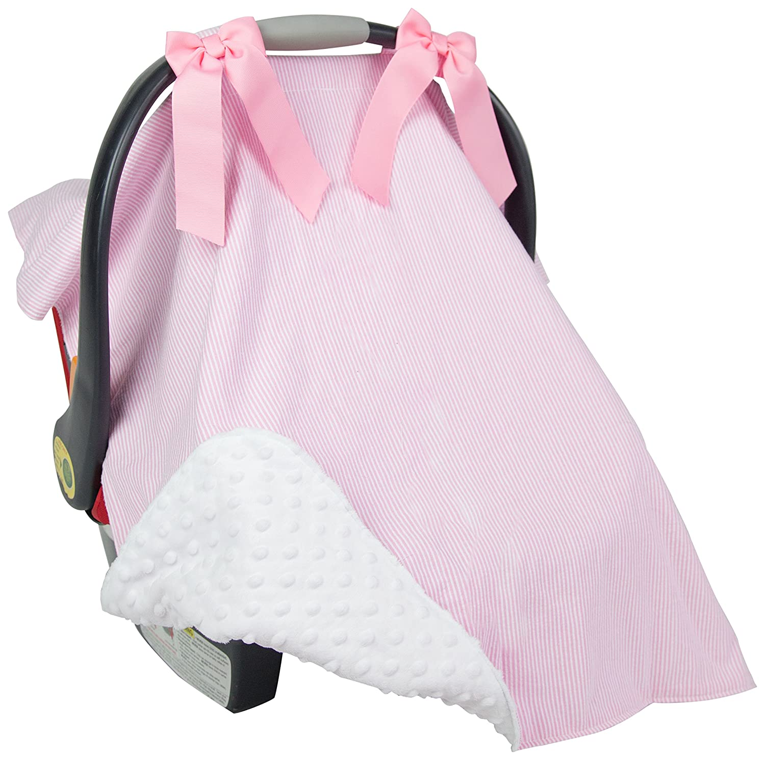 Muslin Baby Car Seat Canopy Cart Stroller Carseat Covers Canopy Cover Windproof Sunshade with Straps