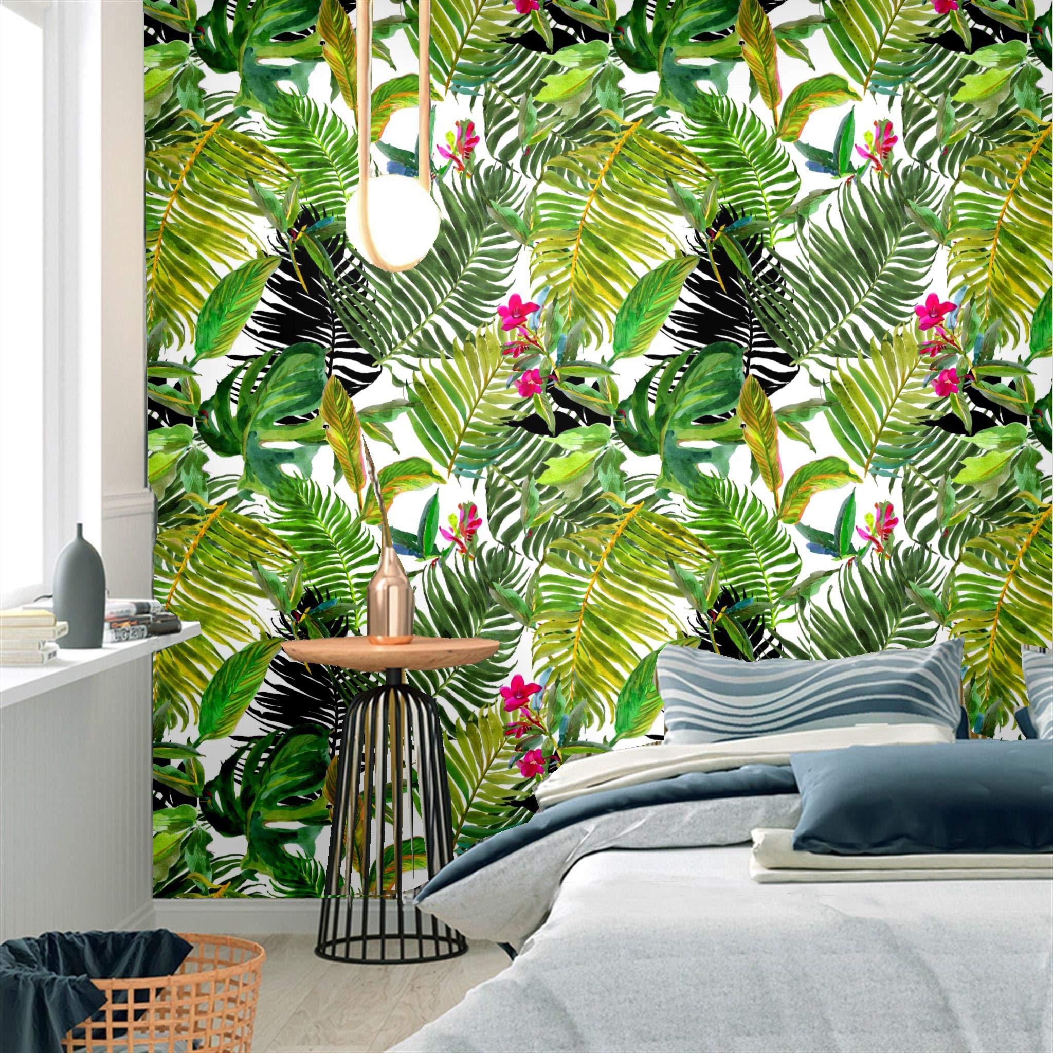 Tropical Palm Leaf Self-Adhesive Prepasted Wallpaper