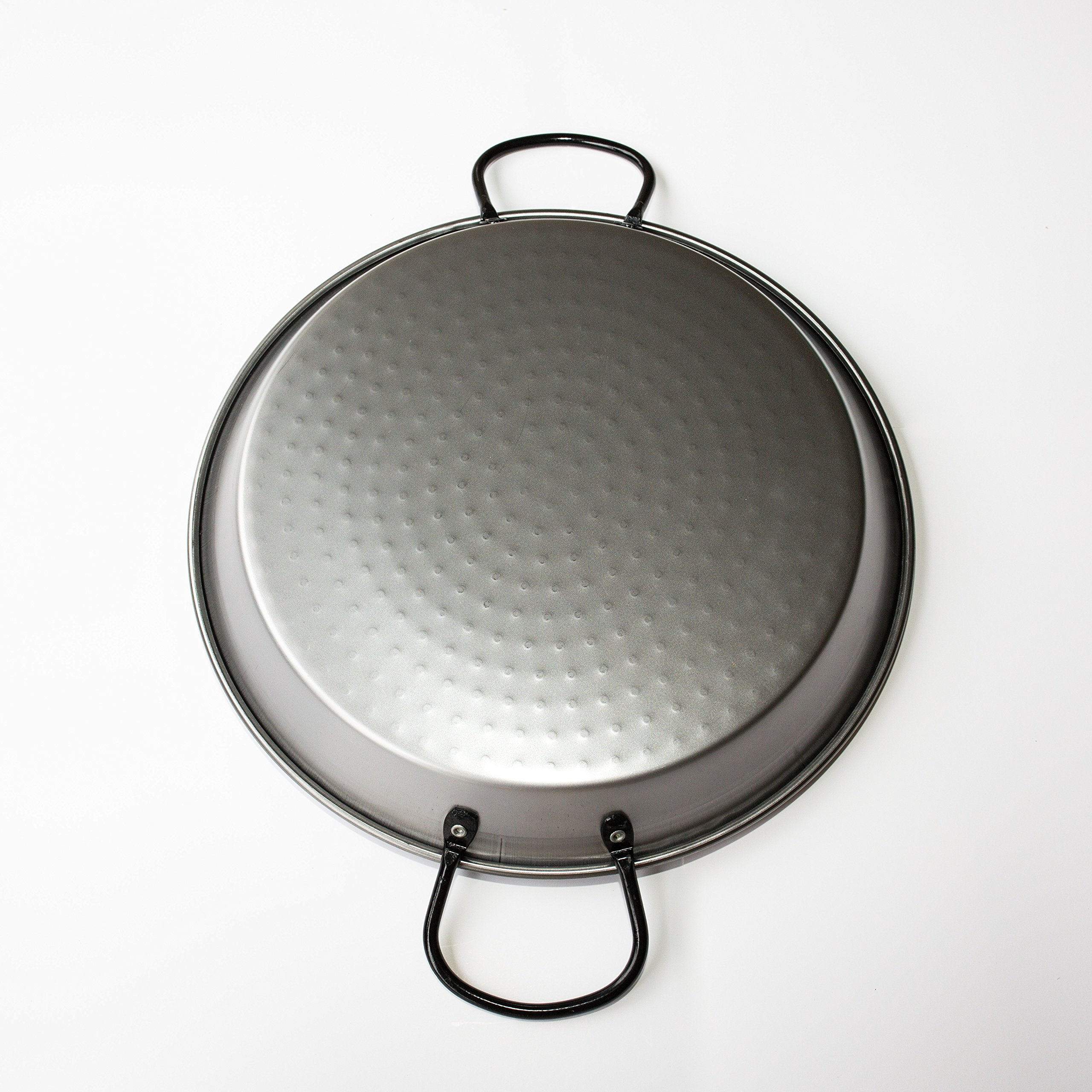 Polished Steel Valencian paella pan 12 Inch (30cm) 4 Servings by Castevia Imports (Image #2)