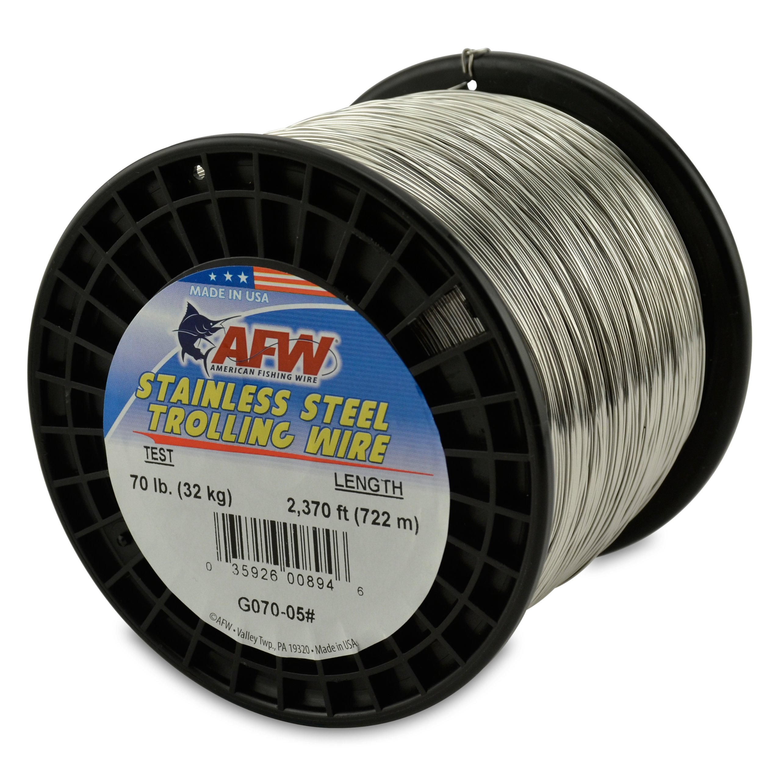 American Fishing Wire Stainless Steel Trolling Wire, 70-Pound Test/0.71mm Dia/722m by American Fishing Wire